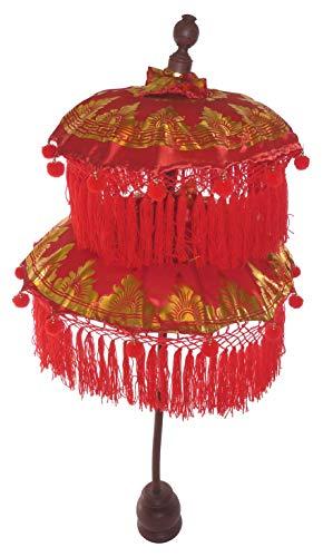 generisch Deko-Schirme, Tempelschirme aus Bali, rot 114cm