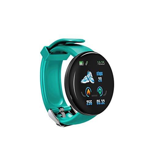 Riou D18 Smart Watch,wasserdichte Smartwatch BT 4.0 Fitness-Tracker, Support Benachrichtigung Schrittzähler Herzfrequenz Blutdruck Blutsauerstoff-Überwachung Multi-Sport-Modus