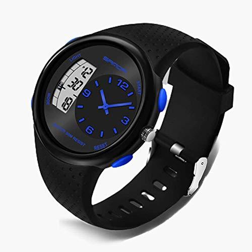 SXXYTCWL For Hombre Reloj Digital de los Deportes al Aire Libre es 50M Impermeables Militares cronógrafo Relojes de Pulsera for Hombres con Fondo LED Ligh/Reloj/Fecha/a Prueba de Golpes jianyou