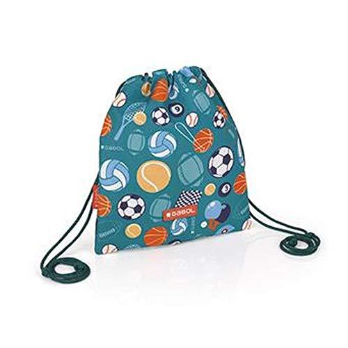 Gabol Bolsa Saco Mini Gym 22x25cm Mochila Infantil, 25 cm, Multicolor