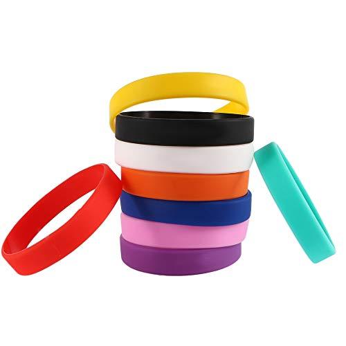 YOUZHA Braccialetto Fashion New basket sport wristband bracciali in silicone multicolore gomma energia braccialetto per donna uomo, verde