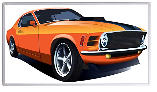 IH Engineering BV infraroodverwarming met digitale thermostaat elektrische verwarming beeldverwarming - GS TÜV Süd gecertificeerd - 5 jaar garantie - (130 Watt, Muscle Car Orange)