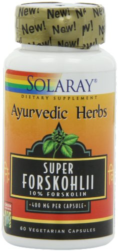 Solaray Super Forskohlii Extract Vegetarian Capsules, 400 mg, 60 Count
