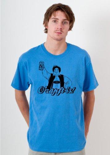 BIGTIME.de Oktoberfest T-Shirt O´zapft is! Herren Shirt W4 Farbe Sapphire S - XXL Druckfarbe: schwarz - Gr. XXL