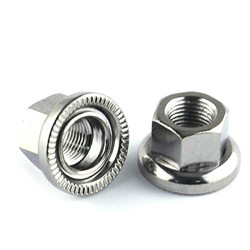 E-outstanding 2pcs 7075 Aluminum Alloy M10 Bike Wheel Hub Axle Nuts Bicycle Accessories for Folding Bicycle Drum Rear Axle