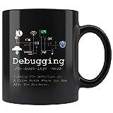 Taza té cerámica uso prolongado Definición de depuración Programación de TI Codificación de código Programador Computadora binaria cher Estudiante Taza bebida café Regalo