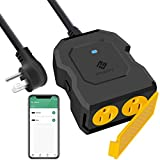 Etekcity ESO15-TB Outdoor Smart Plug WiFi Outlet Works with Alexa and Google Home Wireless Remote Control & Energy Monitoring, Waterproof, FCC and ETL Listed, Black
