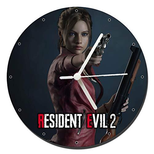 MasTazas Resident Evil 2 Claire Redfield Reloj de Pared Wall Clock 20cm