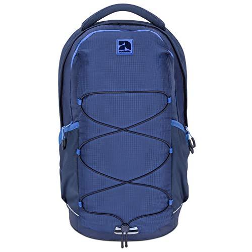 Schulrucksack Mädchen, Jungen, Teenager Blau/Navy- Audetic AERO Ergonomischer Schulranzen aus Recycelten PET Flaschen - Nachhaltiger Rucksack für Schule, Freizeit, Reisen - Wasserabweisend