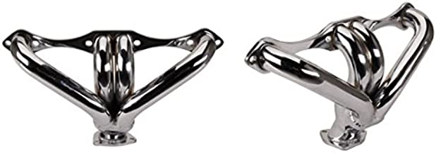 Small Block Fits Chevy Hugger Headers for Angle Plug Heads, Chrome