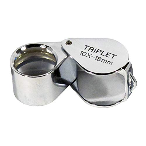SE 10 x 18mm Professional Round Triplet Jeweler's Loupe - MJ31018C