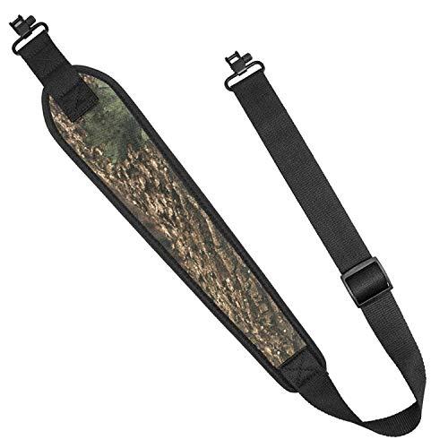 Braudel 2 Point Rifle Sling with Swivels, Adjustable Shoulder Padded Strap for Shotgun, Tactical Hunting Gun Sling for Outdoor