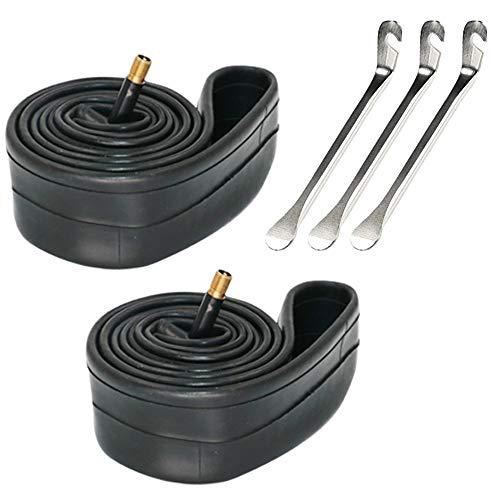 Paquete de 2 Tubos de Bicicleta con 3 palancas de Hierro de Cuchara para neumáticos, Tubo Interior para Bicicleta (20')