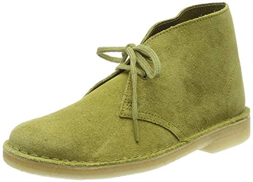 Clarks Boot, Stivali Desert Boots Donna, Verde (Khaki Suede Khaki Suede), 38 EU
