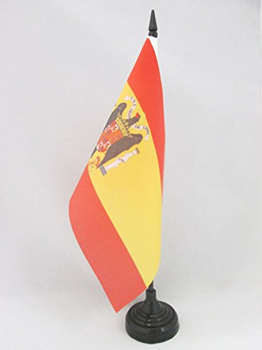 AZ FLAG Bandera de Mesa de ESPAÑA DE Franco 21x14cm - BANDERINA de DESPACHO FRANQUISTA ESPAÑOLA 14 x 21 cm