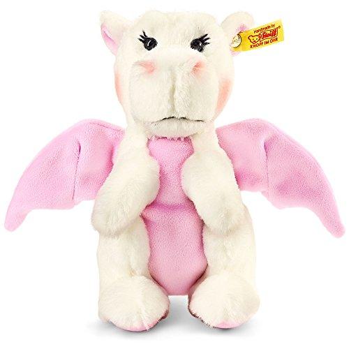 Steiff 15113 - Rosali Baby Drache 20, weiß/rosa