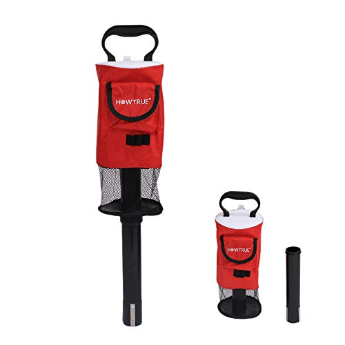 HOW TRUE Portable Shag Bag Golf Ball Pick Up, Golf Ball Retriever, Red