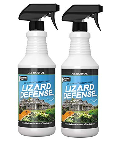 Exterminators Choice Lizard Defense Spray 2 Pack | 32 Ounce 2 Pack | Non-Toxic Lizard Repellent | Quick and Easy Pest Control to Keep Lizards Away