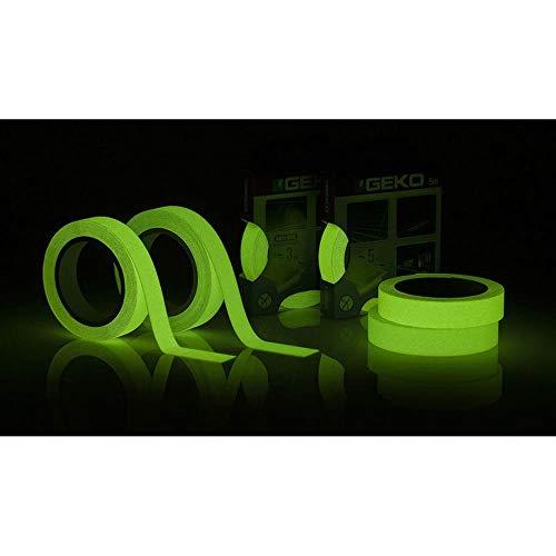 Geko Ruban antidérapant adhésif mm 25 x 3 Metre Luminescent (Brillent dans Le Noir) Boite fermée, Multi/Couleur, Taille Unique