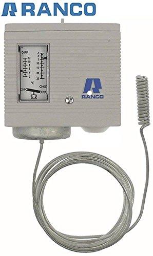 Termostato Eliwell máx. Temperatura 25 °C Sensor 9,5 x 38 mm -5 hasta + 25 °C 3 – 12 °C 1,7 – 7 °C 016H6954109 Tubo capilar 2000 mm