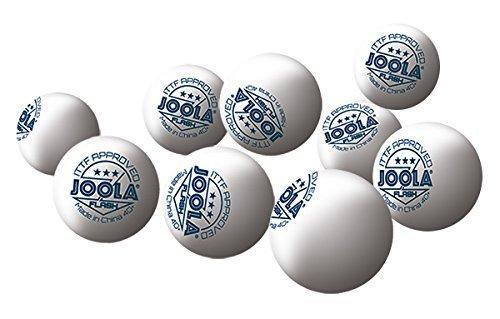 JOOLA Tischtennisbälle FLASH 3-Sterne Selektierte 40+mm Durchmesser Premium Tischtennis-Wettkampf-Bälle, Weiss, One Size