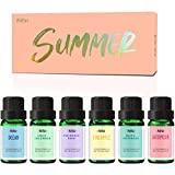 Summer Fragrance Oils, MitFlor Premium Scented Oils for Diffuser, Soap Making, Summer Aromatherapy Oil Gift Set, Candle Making Scents, Ocean, Midsummer Night, Watermelon and More Fresh Scents, 6x10ml