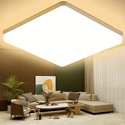 KSIBNW 36W Plafoniera LED da Soffitto,3240LM,Equivalente 150W,Impermeabile IP54,Ø23cm,Bianco Caldo...