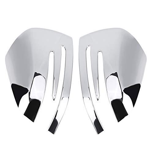2 Stücke Türspiegelabdeckung, ABS Chrom Spiegel Abdeckung Trim für GLA CLA X156 C117 W212 W204 (Silber)