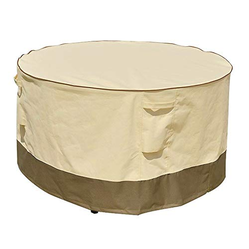 ZMYY Table Covers with Drawstring and Air Vent 600D Heavy Duty Oxford Fabric Waterproof Anti UV All Weather Protection Outdoor Patio Furniture Covers (233.5 * 76.7cm,yellow)