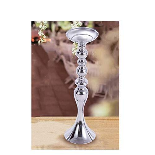 zvcv Gold Candle Holders 50cm/20 Metal Candlestick Flower Vase Table Centerpiece Event Flower Rack Road Lead Wedding Decor Candlestick Holders