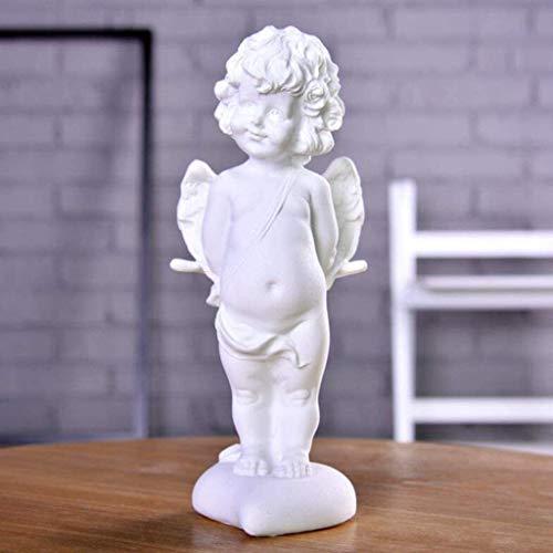 Desktop-Skulptur Kreative Engel Skulptur Büro Handwerk Wohnzimmer Dekorationen Desktop Dekoration Statuen Wohnaccessoires Sammlung Geschenk Figuren (Color : B)