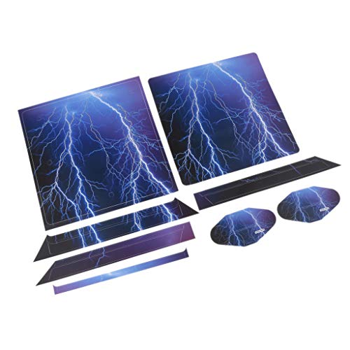 FLAMEER Für Playstation 4 PS4 Slim Skin Designfolie Sticker Aufkleber Schutzfolie Set aus Vinyl für Konsole und 2 Controller , Motiv Auswahlbar - YSP4S-0078