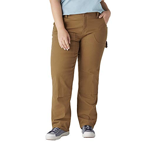 Dickies Size Women's Plus Double Front Denim Carpenter Pants, Rinsed...