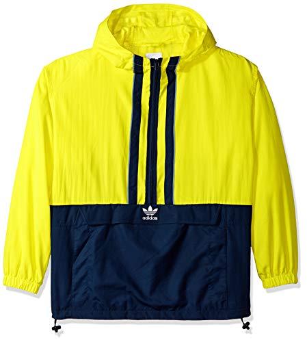 adidas Originals Men's Authentics Anorak, shock yellow/collegiate navy, M