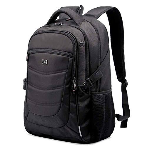 旅行用ラップトップバックパック、防水、盗難防止、ユニセックス、16インチラップトップに適しています(黒)