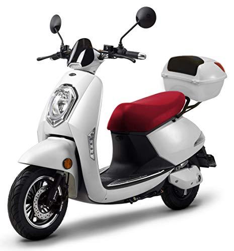 Elektroroller Elettrico Li, 1200 Watt, E-Motor, bis zu 120 km Reichweite, E-Scooter, Elektro-Roller, E-Roller mit Straßenzulassung, 25 km/h, herausnehmbarer Lithium-Akku, Produktvideo Weiß
