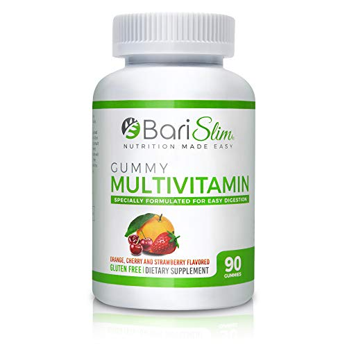 BariSlim Bariatric Multivitamin Gummies – Specially Formulated Gummy Vitamin for Patients After Weight Loss Surgery – 90 Fruit Chews