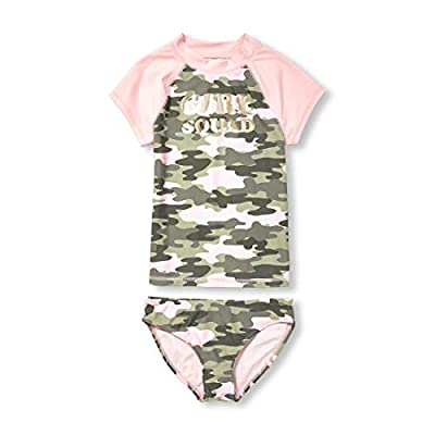 The Children's Place Girls' Big Two Piece Swim Set, Sweet Nothing, M (7/8)