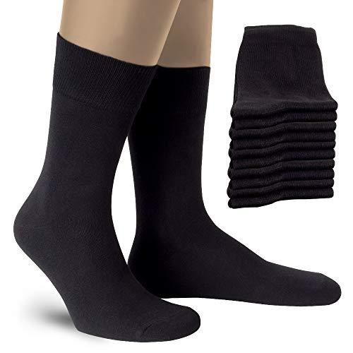 ALL ABOUT SOCKS Herren & Damensocken-schwarz 39-42 Strümpfe-Damen-Schwarz (10er Pack) Gr. 39 40 41 42 Baumwollsocken Herrensocken Schwarze Socken Frauen Damen-strümpfe Baumwolle