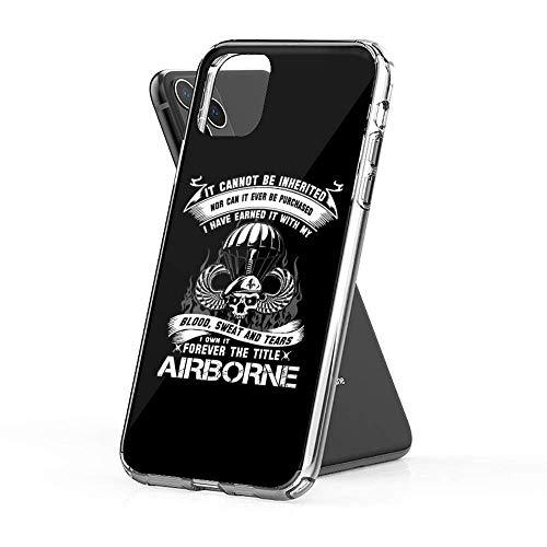 Fundas para teléfono Pure Clear TPU compatibles con iPhone SAMSUNG Xiaomi Redmi Note 10 Pro/Note 9/Poco M3 Pro/Note 8/POCO X3 Pro Funda-Airborne Infantry mom Airborne Jump Wings Airborne Badge Airborn