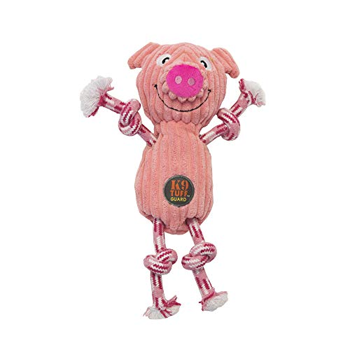 Charming Pet Ranch Roperz Pig Durable Rope and Plush Dog Toy, Small