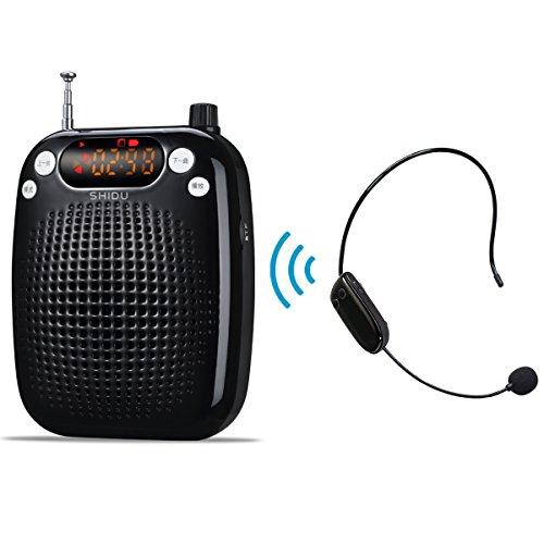 Portátil Amplificador de voz Inalámbrico con fm Estéreo microfono con Radio...
