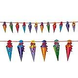 Oblique Unique® Zuckertüten Girlande Hänge Deko für Schuleinführung Einschulung Schulanfang Dekoration Banner Schule Jungs Mädchen bunt - 3