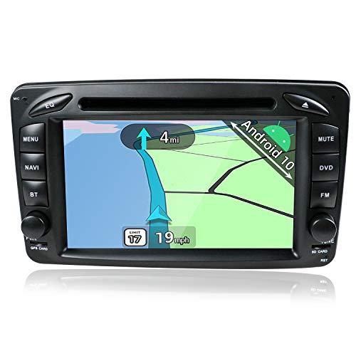 YUNTX Android 10 Autoradio Compatible avec Benz W163 W209 C-Class W203  W210 E-Class - GPS 2 Din - Caméra arrière Gratuits - Soutien Dab+   Commande au Volant  4G   WiFi Bluetooth Mirrorlink