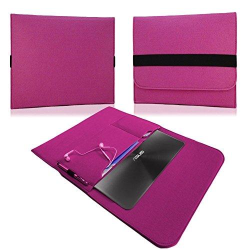 NAUC Für Lenovo E31-70 Tasche Hülle Filz Sleeve Schutzhülle Case Cover Bag, Farben:Pink