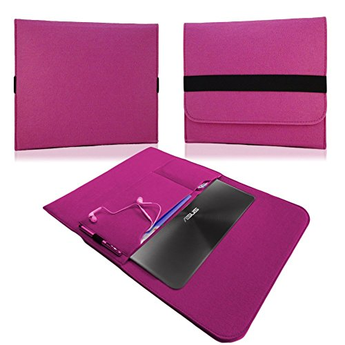 NAUC Für Lenovo E31-70 Tasche Hülle Filz Sleeve Schutzhülle Hülle Cover Bag, Farben:Pink