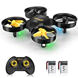 FLYSEA Portable Drones for Kids,RC Helicopter/Quadcopter for Adult/Beginners with Auto Headless Mode,Auto Pair,Altitude Hold,3D Flips & 360° Spin,2 Li Batteries Fly for 12 Mins,Gift for Boys/Girls