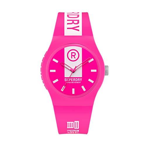 Superdry Reloj Analógico para Mujer de Cuarzo con Correa en Silicona SYL348P