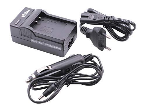 vhbw 220V Ladegerät mit Kfz-Lader für Kodak Playsport Waterproof Pocket-Camcorder, Zi8, Zi 8 Pocket-Camcorder wie Fuji NP-50, Kodak Klic-7004.