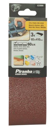 Piranha X33066 3 bandes abrasives 65 x 410 60g